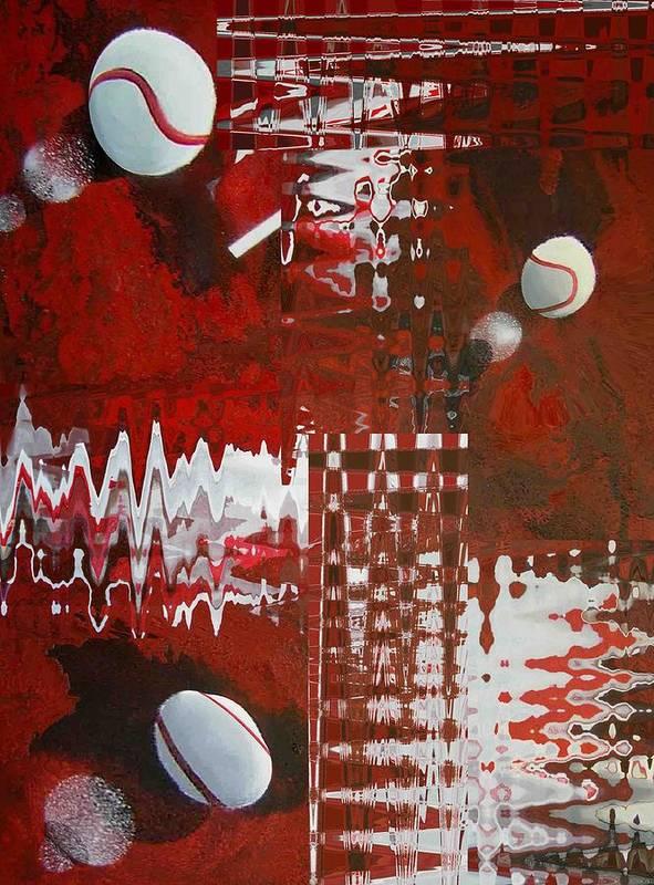 Art Print featuring the print tenniss on Mars digital transformation by Evguenia Men