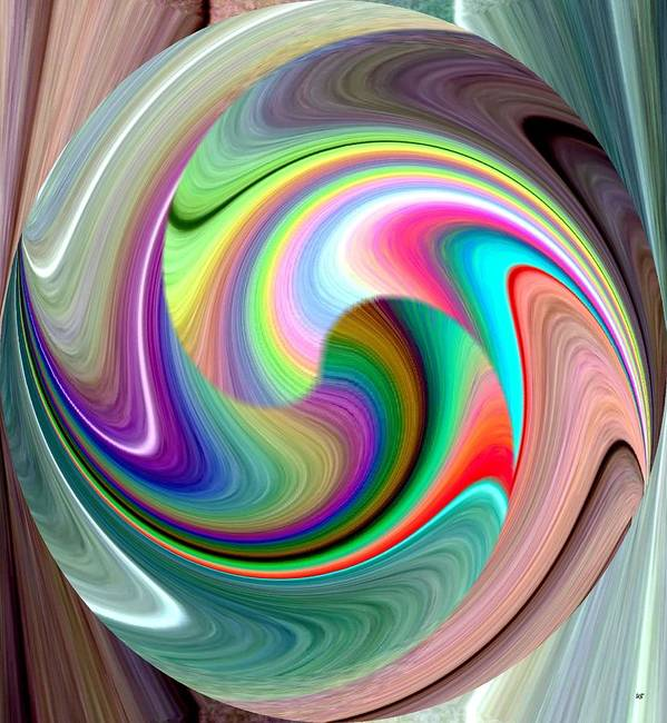 Abstract Fusion 241 Art Print featuring the digital art Abstract Fusion 241 by Will Borden