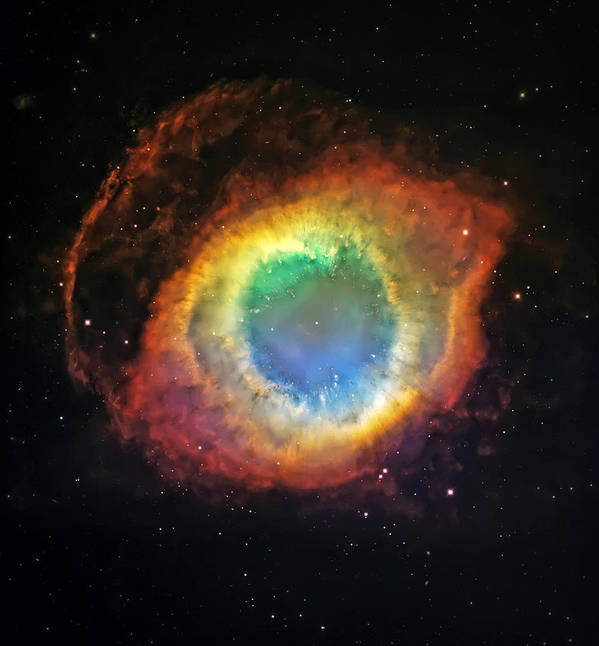 Universe Art Print featuring the photograph Helix Nebula 2 by Jennifer Rondinelli Reilly - Fine Art Photography