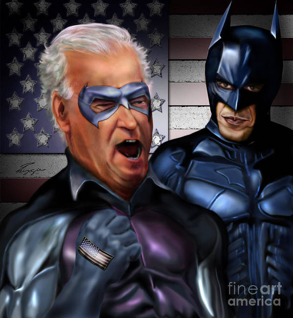 Vice President Art Print featuring the painting Mad Men Series 3 Of 6 - Obama And Biden by Reggie Duffie