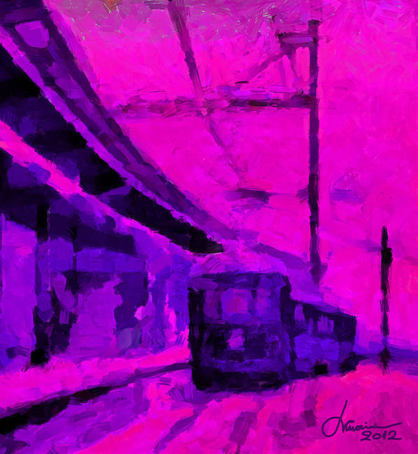 Train Art Print featuring the digital art The 7am Train Tnm by Vincent DiNovici