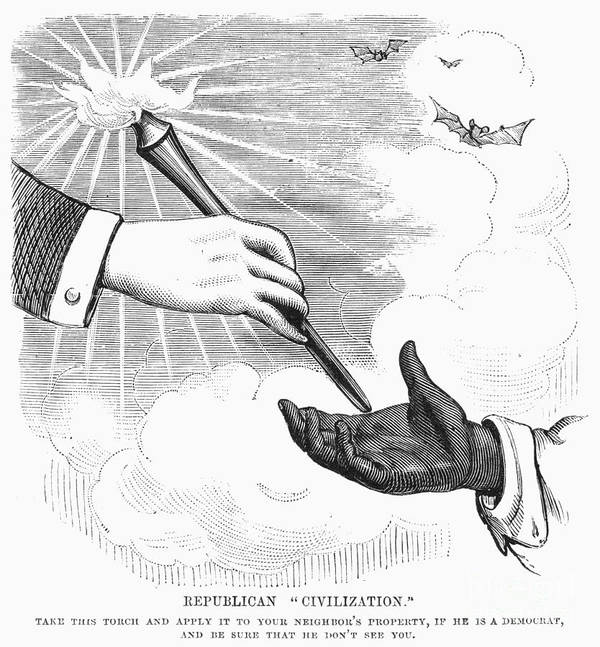 1876 Art Print featuring the photograph Election Cartoon, 1876 by Granger