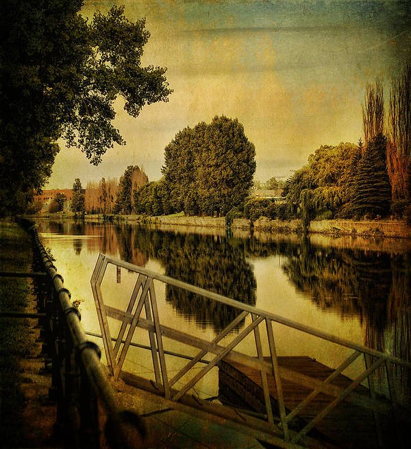 Landscape Art Print featuring the photograph Lachine Canal by Peter Labrosse