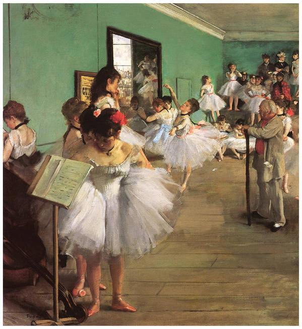 The Dance Class Art Print featuring the painting The Dance Class by Edgar Degas