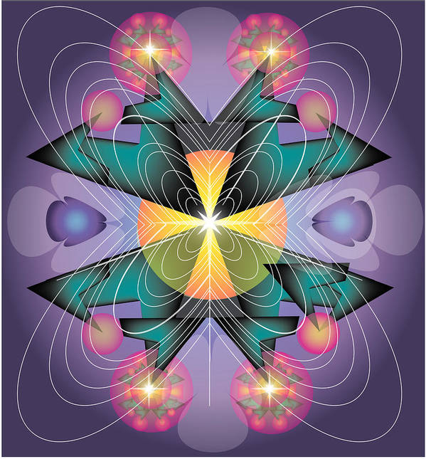 Abstract Art Print featuring the digital art Butterfly by George Pasini