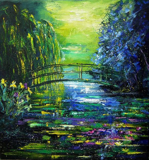 Pond Art Print featuring the painting After Monet by Pol Ledent