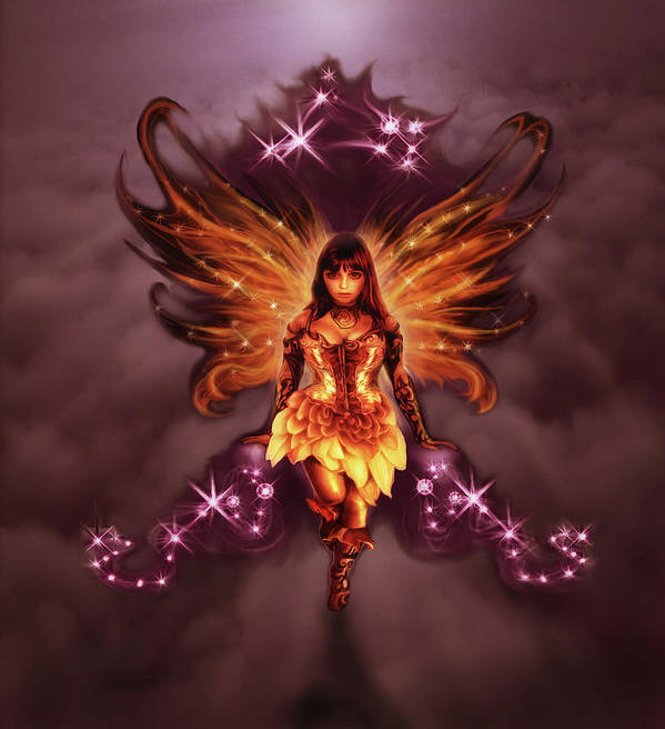 Fairy Art Print featuring the painting Fairy Angel by Rick Ritchie