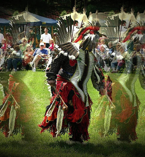 Native American Art Print featuring the photograph Ghost Dancer by Vincent Duis