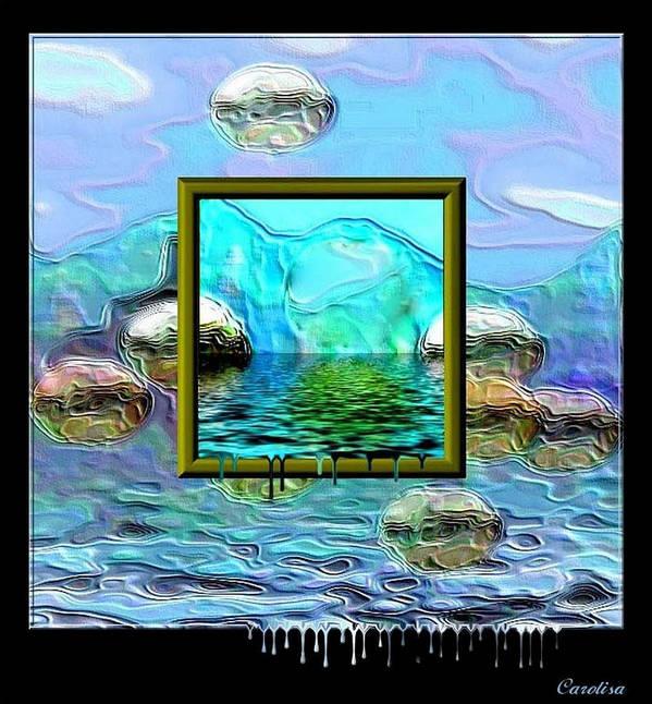 Water Art Print featuring the digital art Global Warming by Carola Ann-Margret Forsberg
