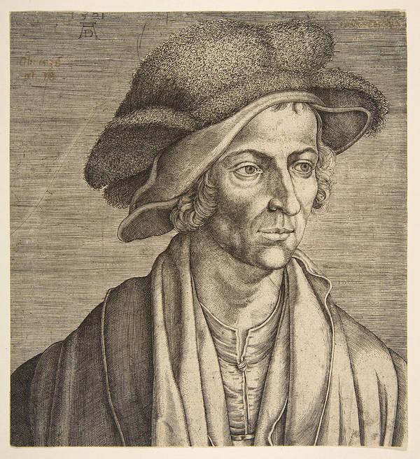 Aegidius Sadeler Art Print featuring the drawing Joachim Patinir by Aegidius Sadeler