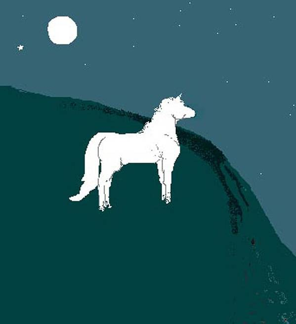 Horse Art Print featuring the digital art Moonlight by Carole Boyd