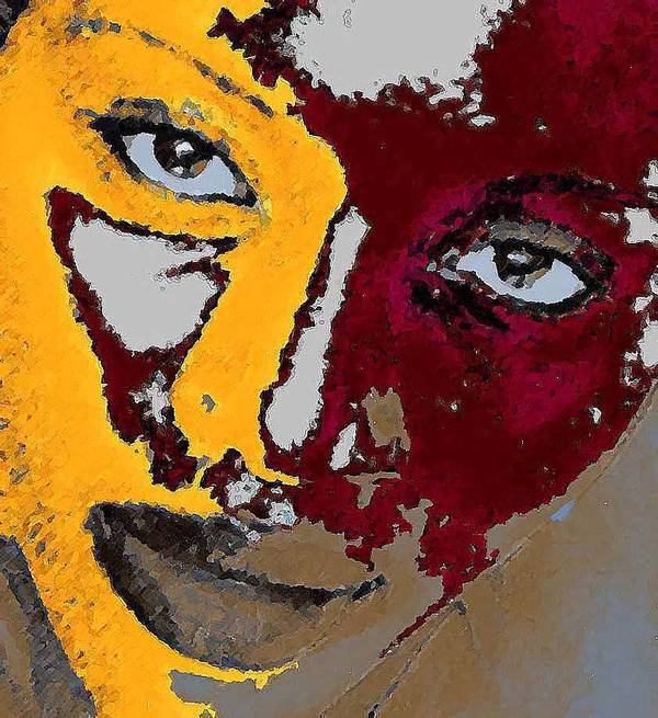 Portrait Art Print featuring the photograph Painted Face by LeeAnn Alexander