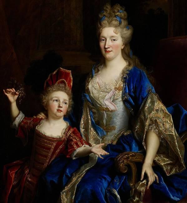 Portrait Art Print featuring the painting Portrait Of Catherine Coustard by Nicolas de Largilliere