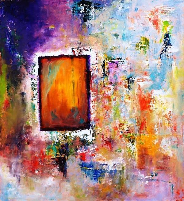 Purple Abstract Oil Painting Art Print featuring the painting Purple Abstract Oil Painting Purplicious by Sasha Toporovsky