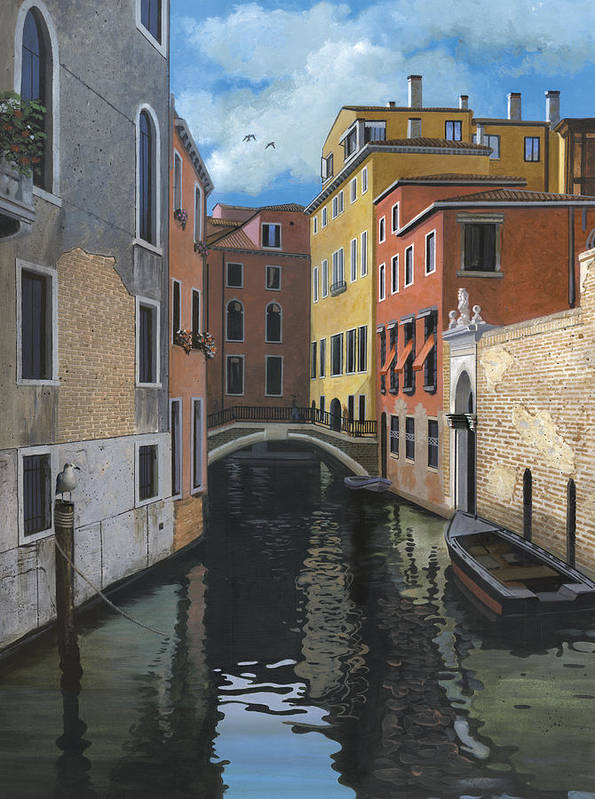 Venice Art Print featuring the painting Canal Rhapsody by Harold Shull