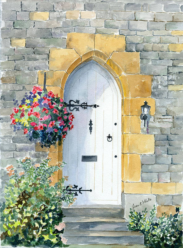 Arched doorway in England by Jean Walker White