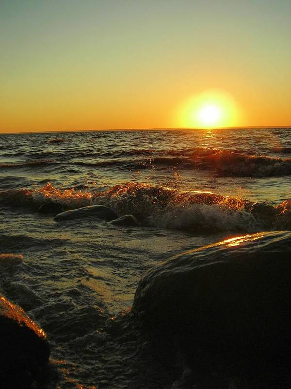 Sunset Art Print featuring the photograph Between a Rock and a Sunny Place by Peter Mowry