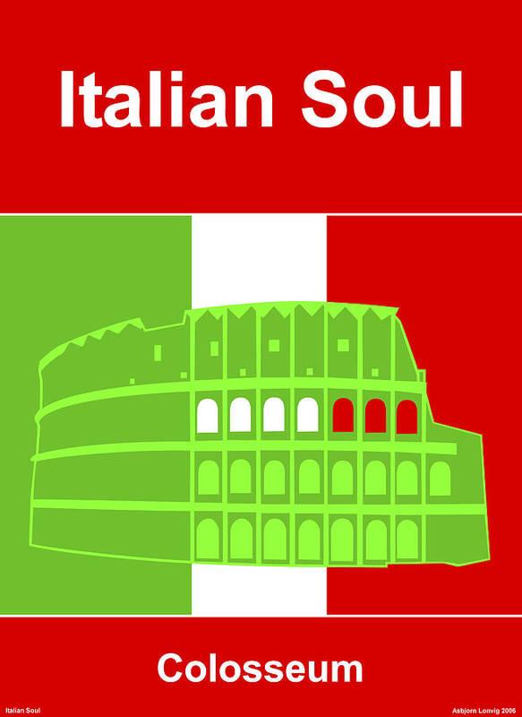 Italian Soul Art Print featuring the digital art Italian Soul by Asbjorn Lonvig