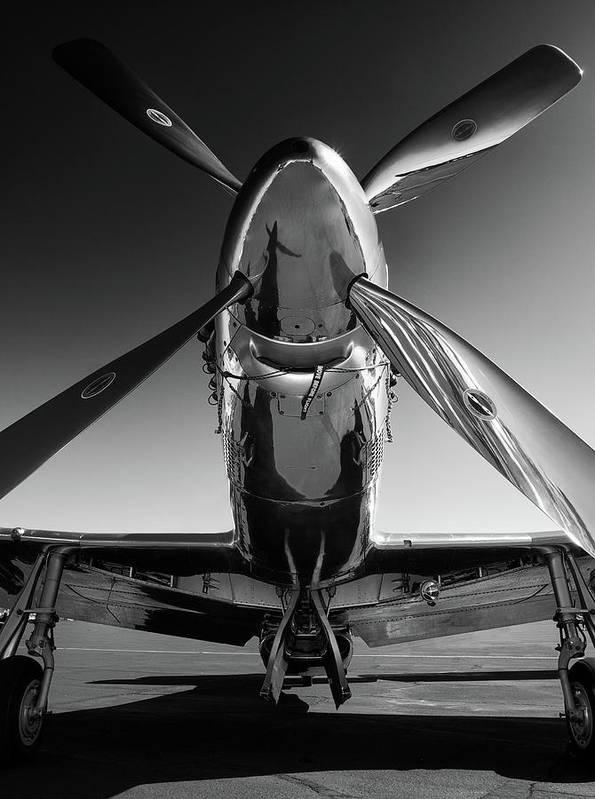 P51 Art Print featuring the photograph P-51 Mustang by John Hamlon