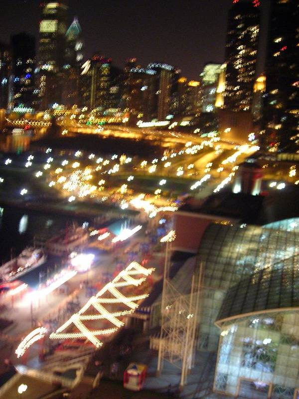 Chicago Art Print featuring the photograph The Fast Lane by Peter Mowry