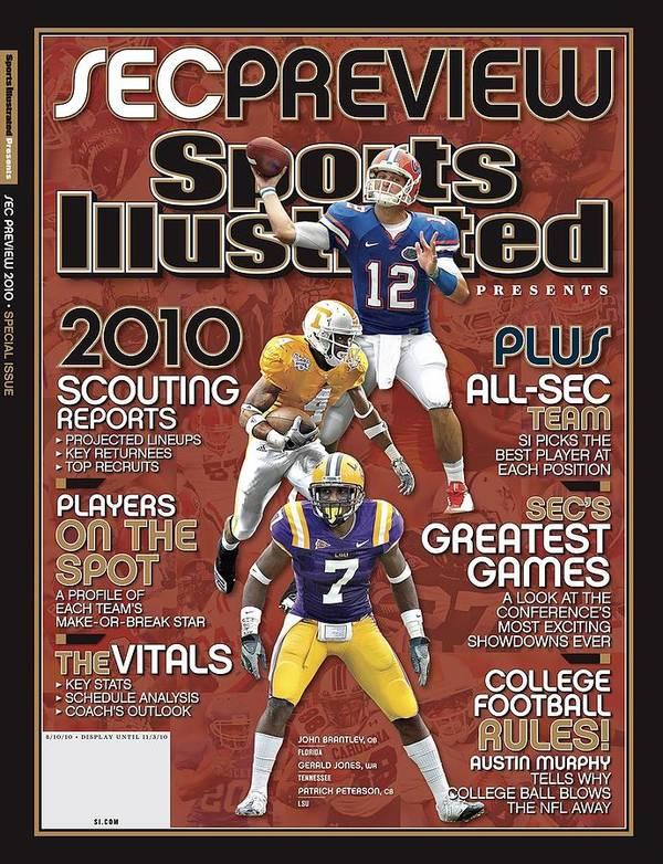 Motion Art Print featuring the photograph 2010 Sec Football Preview Issue Sports Illustrated Cover by Sports Illustrated
