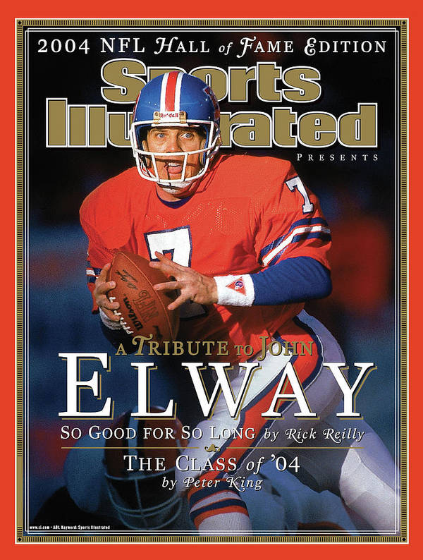 Playoffs Art Print featuring the photograph A Tribute To John Elway 2004 Nfl Hall Of Fame Edition Sports Illustrated Cover by Sports Illustrated