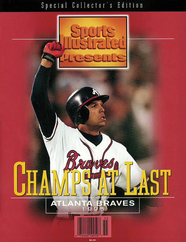 Atlanta Art Print featuring the photograph Atlanta Braves David Justice, 1995 World Series Sports Illustrated Cover by Sports Illustrated