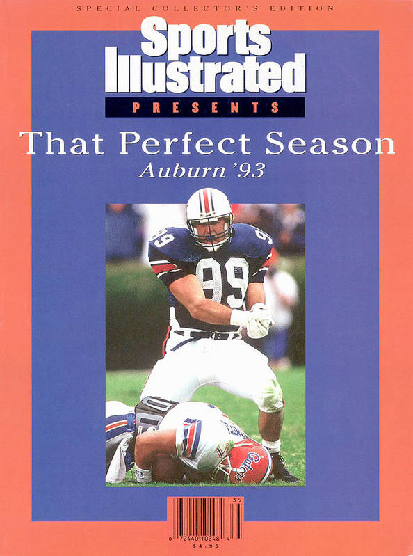 Auburn University Art Print featuring the photograph Auburn University Ace Atkins, 1993 Ncaa Perfect Season Sports Illustrated Cover by Sports Illustrated
