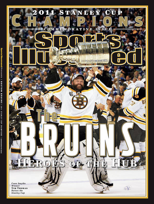 Playoffs Art Print featuring the photograph Boston Bruins, 2011 Nhl Stanley Cup Champions Sports Illustrated Cover by Sports Illustrated