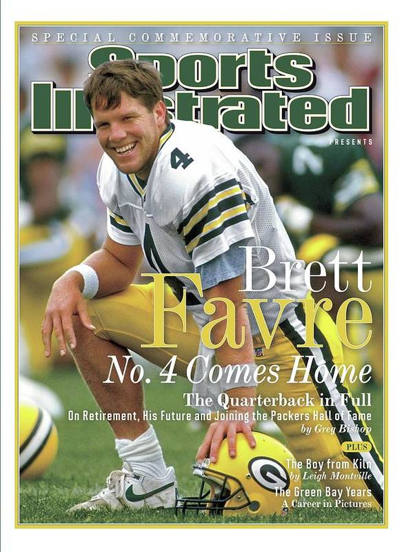 De Pere Art Print featuring the photograph Brett Favre, No. 4 Comes Home Special Commemorative Issue Sports Illustrated Cover by Sports Illustrated