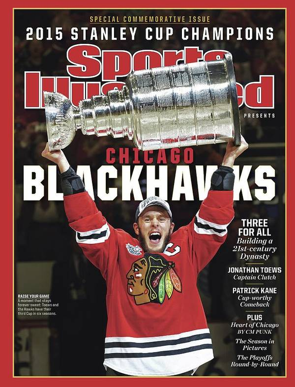 Playoffs Art Print featuring the photograph Chicago Blackhawks, 2015 Nhl Stanley Cup Champhions Sports Illustrated Cover by Sports Illustrated