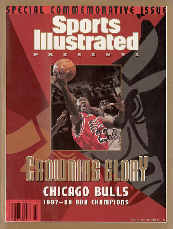Playoffs Art Print featuring the photograph Chicago Bulls Michael Jordan, 1998 Nba Champions Sports Illustrated Cover by Sports Illustrated