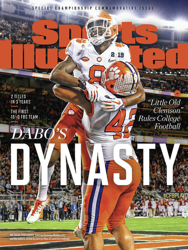 Championship Art Print featuring the photograph Dabos Dynasty Clemson University, 2019 Cfp National Sports Illustrated Cover by Sports Illustrated
