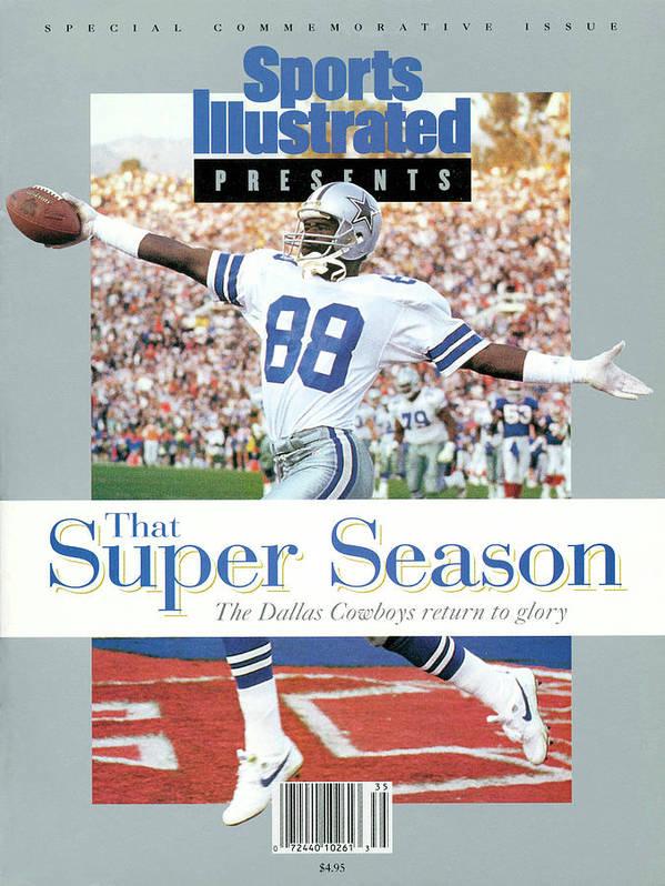 Scoring Art Print featuring the photograph Dallas Cowboys Michael Irvin, Super Bowl Xxvii Sports Illustrated Cover by Sports Illustrated
