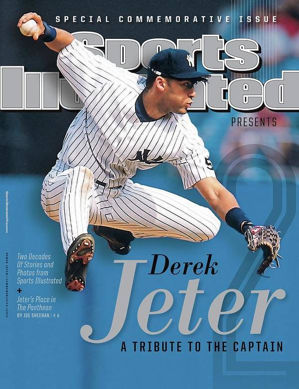 American League Baseball Art Print featuring the photograph Derek Jeter A Tribute To The Captain Sports Illustrated Cover by Sports Illustrated