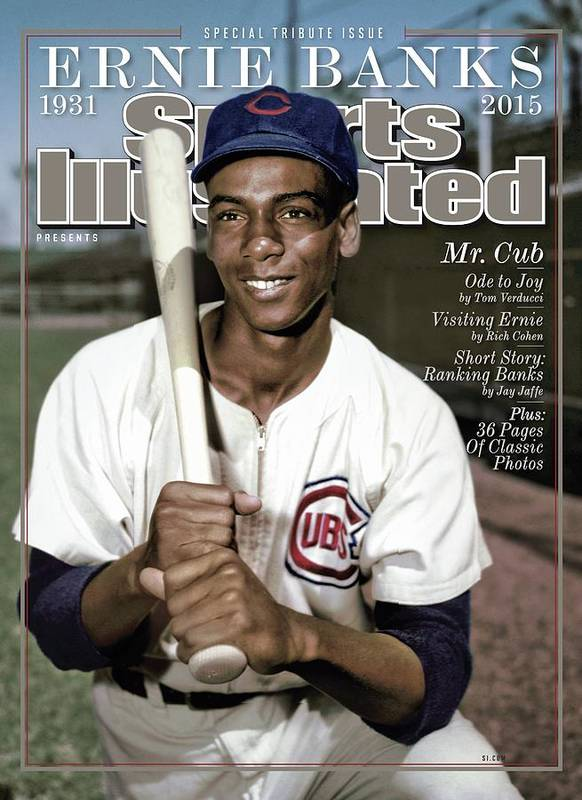 People Art Print featuring the photograph Ernie Banks, 1931 - 2015 Special Tribute Issue Sports Illustrated Cover by Sports Illustrated