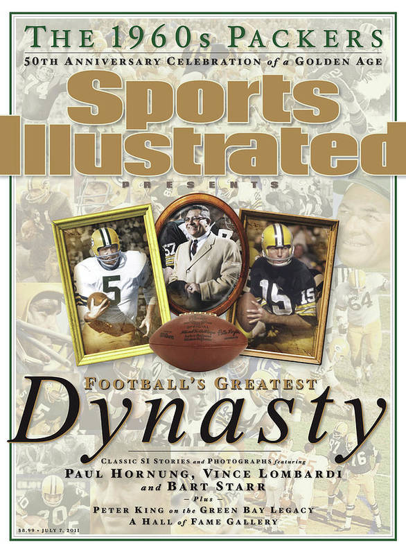 Celebration Art Print featuring the photograph Footballs Greatest Dynasty The 1960s Packers Sports Illustrated Cover by Sports Illustrated