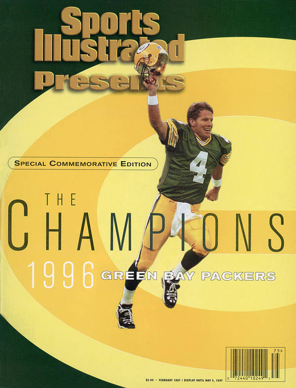 Super Bowl Xxxi Art Print featuring the photograph Green Bay Packers Qb Brett Favre, Super Bowl Xxxi Sports Illustrated Cover by Sports Illustrated