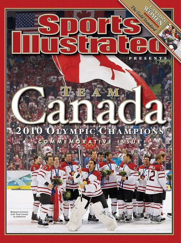 The Olympic Games Art Print featuring the photograph Ice Hockey, 2010 Winter Olympics Sports Illustrated Cover by Sports Illustrated