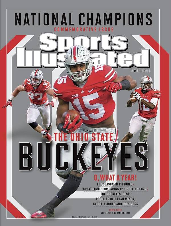 Ohio State Buckeyes Art Print featuring the photograph Ohio State University 2014 Ncaa National Champions Sports Illustrated Cover by Sports Illustrated