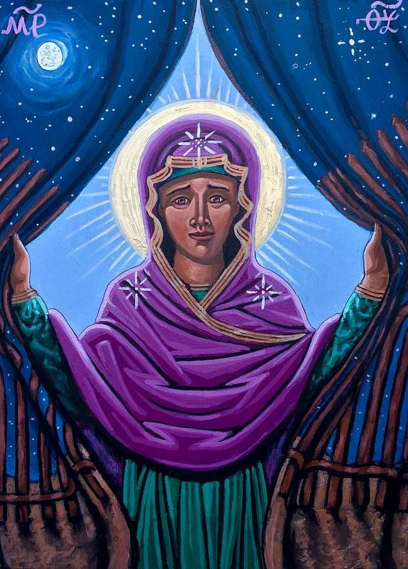 Art Print featuring the painting Our Lady Who Removes Walls by Kelly Latimore