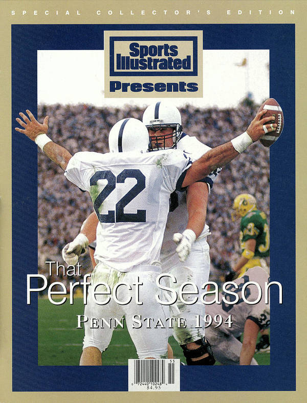 People Art Print featuring the photograph Penn State University Brian Milne, 1994 Ncaa Perfect Season Sports Illustrated Cover by Sports Illustrated