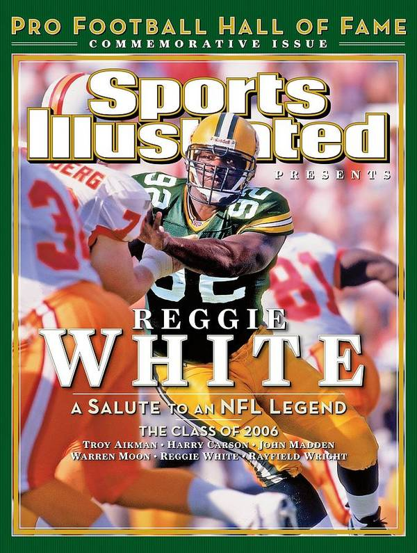 Tampa Art Print featuring the photograph Reggie White, 2006 Pro Football Hall Of Fame Class Sports Illustrated Cover by Sports Illustrated