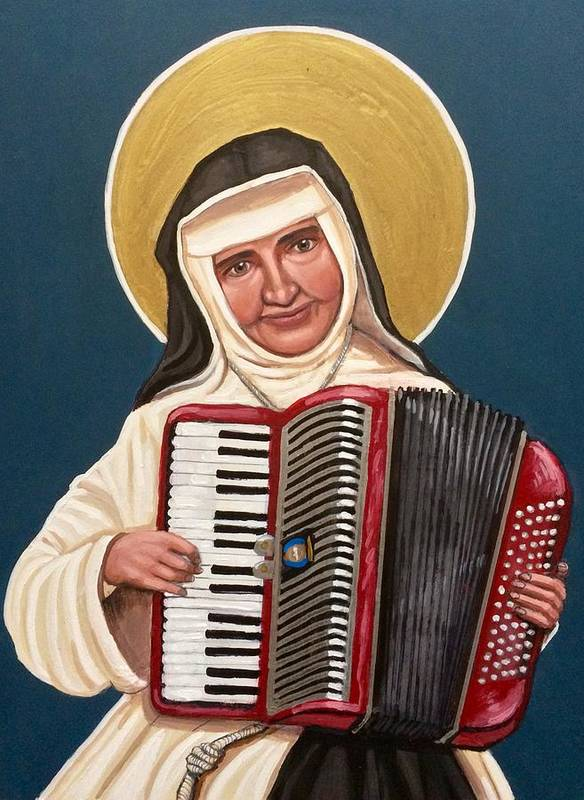 Art Print featuring the painting Saint Dulce of the Poor by Kelly Latimore