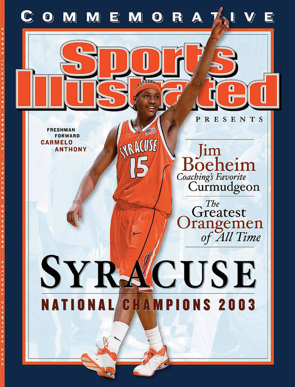 Louisiana Superdome Art Print featuring the photograph Syracuse University Carmelo Anthony, 2003 Ncaa National Sports Illustrated Cover by Sports Illustrated
