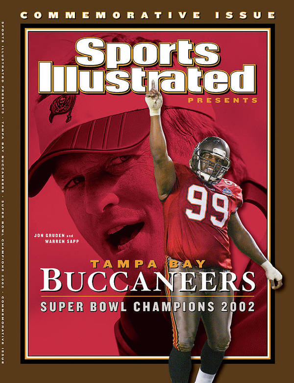 Warren Sapp Art Print featuring the photograph Tampa Bay Buccaneers, Super Bowl Xxxvii Champions Sports Illustrated Cover by Sports Illustrated