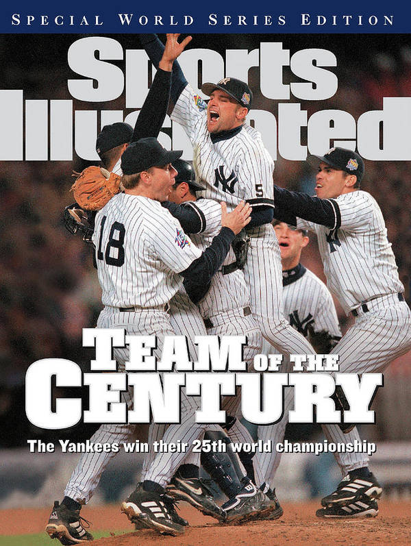 American League Baseball Art Print featuring the photograph Team Of The Century 1999 World Series Champions Sports Illustrated Cover by Sports Illustrated