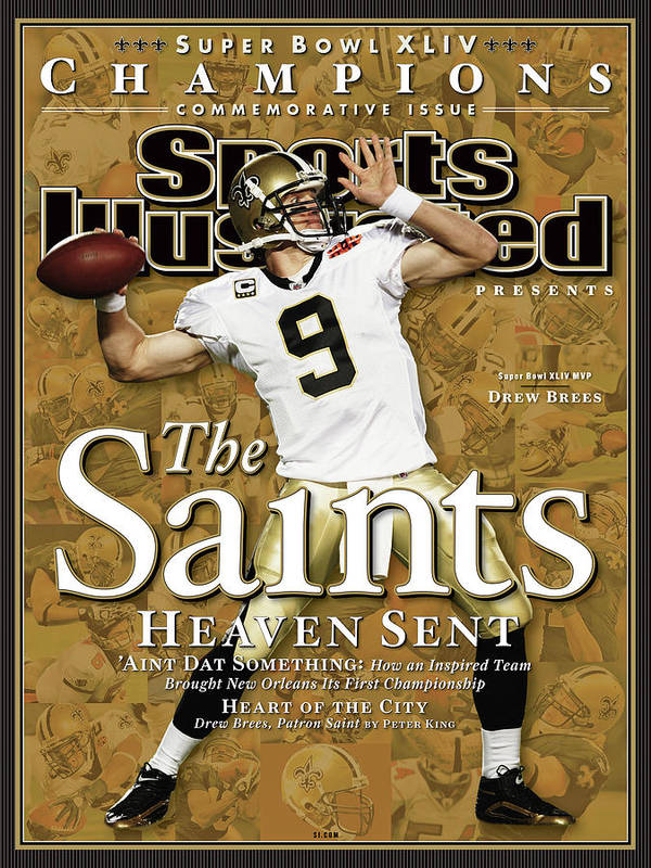 Miami Gardens Art Print featuring the photograph The Saints, Heaven Sent Super Bowl Xliv Champions Sports Illustrated Cover by Sports Illustrated