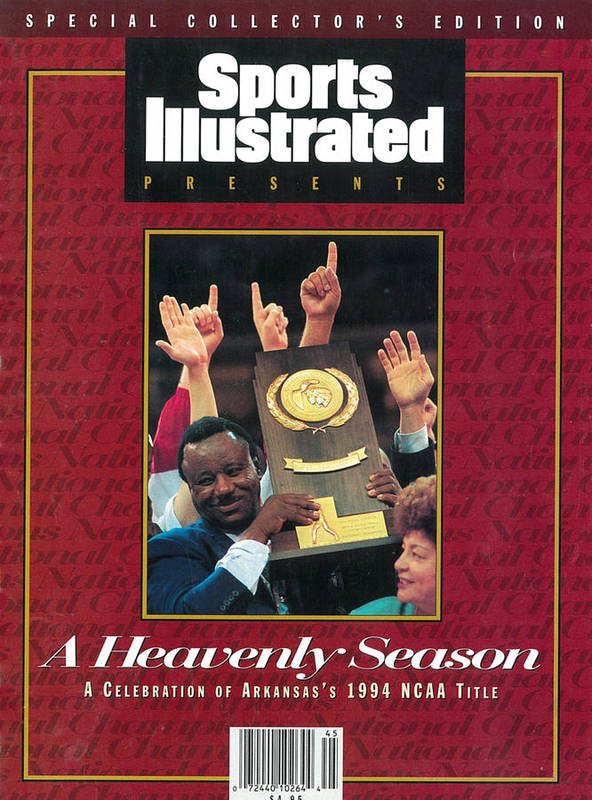 North Carolina Art Print featuring the photograph University Of Arkansas Coach Nolan Richardson, 1994 Ncaa Sports Illustrated Cover by Sports Illustrated