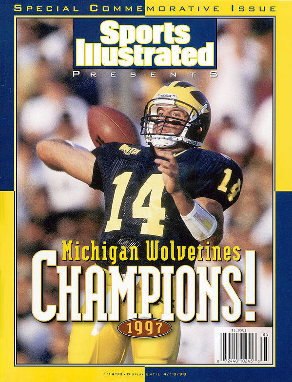 Brian Griese Art Print featuring the photograph University Of Michigan Qb Brian Griese, 1997 Ncaa National Sports Illustrated Cover by Sports Illustrated